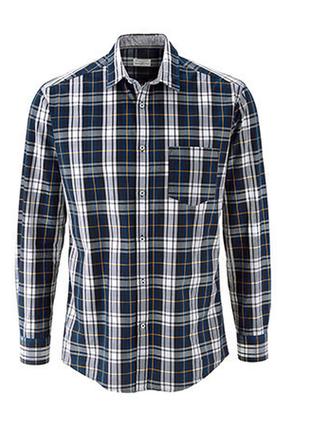 Рубашка в клетку из хлопка от tchibo(германия), наш размер: 46-48 (м), ворот 39/40