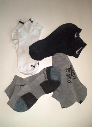 40-42р. комплект низних фирменных носков, цена за 4 пары puma, weatherproof, k-swiss