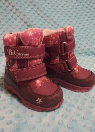 Зимние термо ботинки b&g 23р.(14,5см)