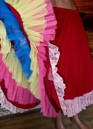 Роскошная юбка для испанских танцев италия от 44 до 52 размера