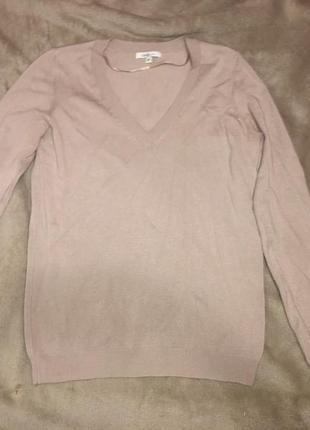 Стильный пуловер цвета кофе с молоком oggi