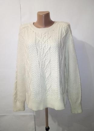 Вязаный белый модный свитер ralph lauren uk 12 / 40 / m