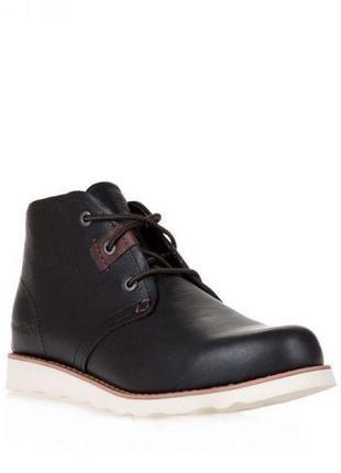 Мужские ботинки cat milton m кожанные