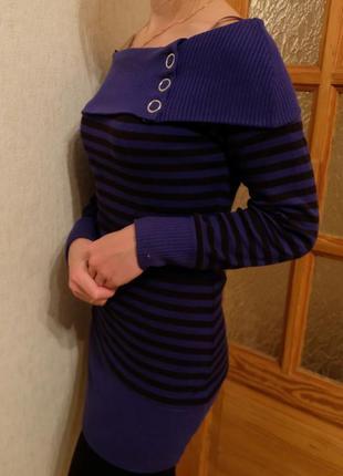 Тёплое платье-туника e-vie на стройняшку