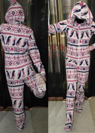 New look пингвины слип кигуруми пижама домашний костюм комбинезон человечек