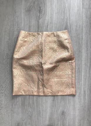 Золотая юбка из парчи h&m