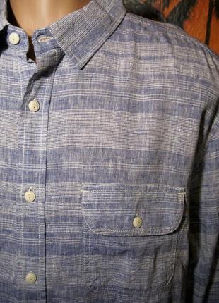 Крутая льняная рубашка easy (оригинал) бангладеш обхват груди 128см.