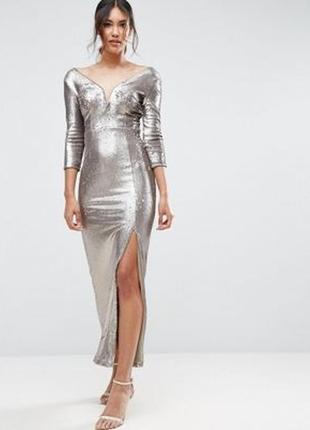 Платье макси с пайетками little mistress