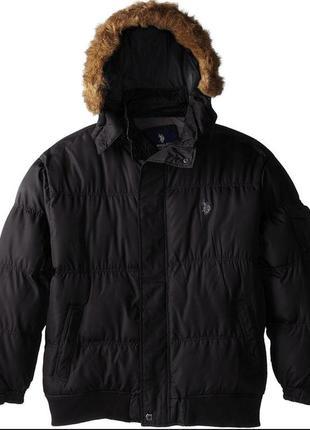 Мужская зимняя куртка пуховик u.s. polo assn