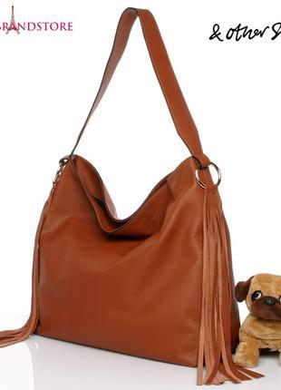 &other stories швеция сумка женская кожаная дорожная шоппер из натуральной кожи