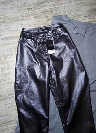 Штаны, брюки, джинсы skinny с напылением, блестящие, размер 16,фирмы next3 фото