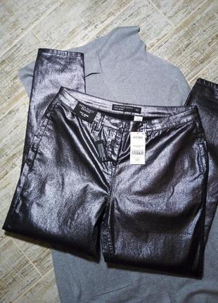 Штаны, брюки, джинсы skinny с напылением, блестящие, размер 16,фирмы next4 фото