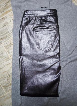 Штаны, брюки, джинсы skinny с напылением, блестящие, размер 16,фирмы next5 фото