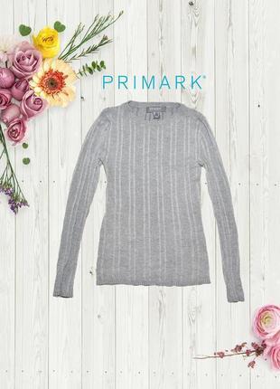 Джемпер серый в вертикальную полоску primark