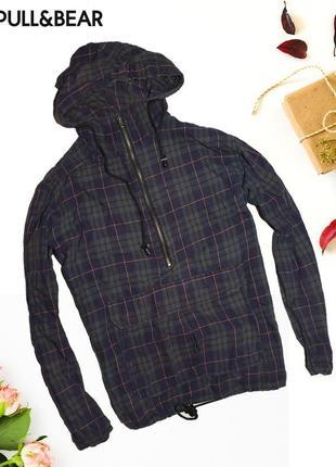 Анараки куртка в клетку pull&bear
