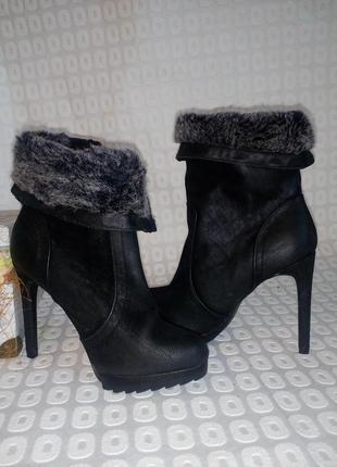 Модние ботинки ботильони от catwalk. 36 p