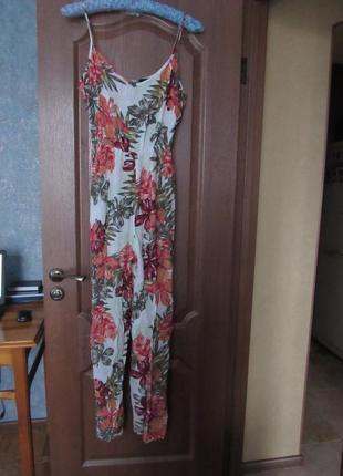 Брючный комбинезон ромпер тропический цветок  р.16 xxl от new look. хит продаж!