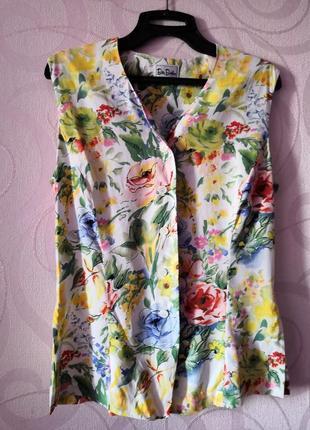 Костюм с цветочным принтом (юбка, топ, пояс), винтаж, ретро, выпускной