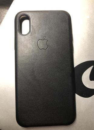Шкіряний чохол на iphone x