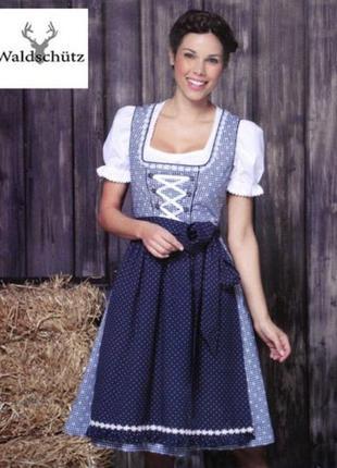 Дирндль баварский национальный костюм waldschütz германия  р.42