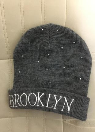 Шапка серая зима brooklyn tally weijl
