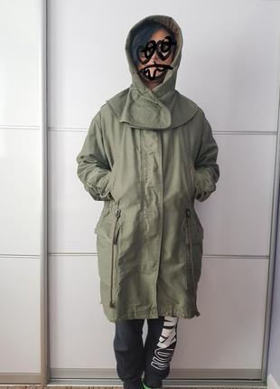 Куртка парка цвета хаки*