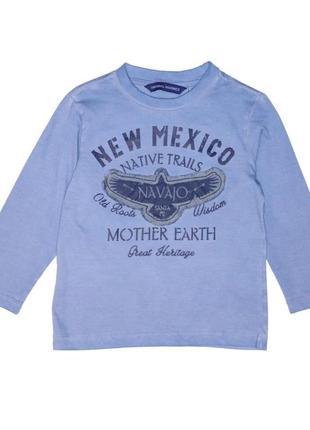 Новый синий лонгслив new mexicо для мальчика, original marines, 2641