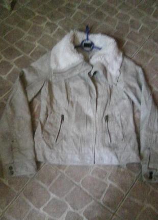 Распродажа! куртка косуха,пилот с актуальным меховым воротником