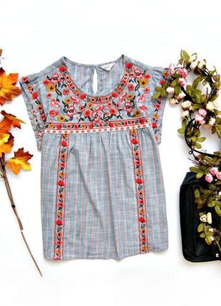 Хлопковая блуза с вышивкой falmer heritage