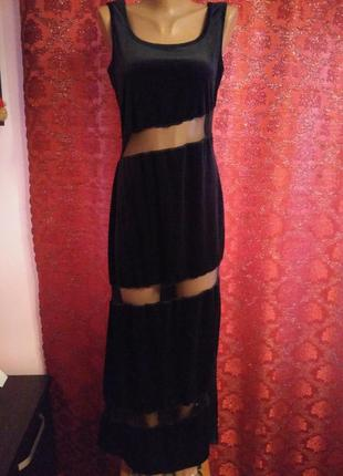 Готовимся к праздникам!) сексуальное велюровое платье макси от young fashion