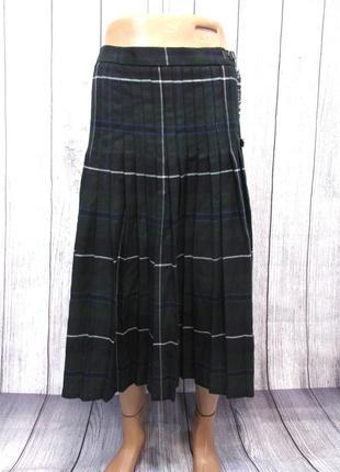 Килт юбка the highland collection, 18-20 (w32-34), зелен клетка, как новый!