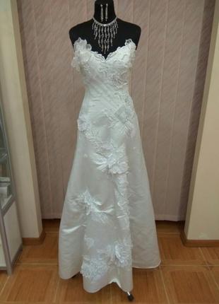 Шикарное свадебное платье+подарок