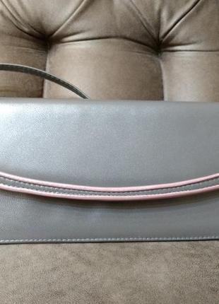 Нарядная сумка клатч италия кожа