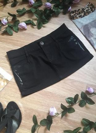 Джинсовая мини юбка motor jeans
