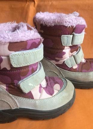 Тёплые зимние ботинки для девочки
