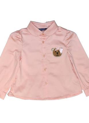 Новая персиковая рубашка для девочки, original marines, 1400