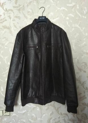 Мужская демисезонная куртка из экокожи в идеале, р. xxl (54)