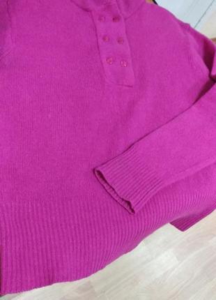 Джемпер шерсть и ангора, цвет фуксия.