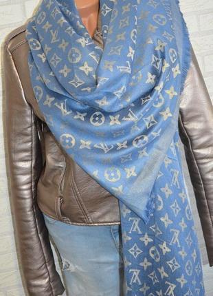 Шикарный шарф палантин с люрексом