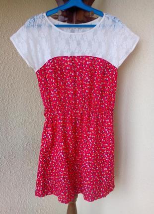 Платье летнее с коротким рукавом bershka