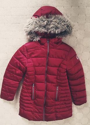 Куртка зима на меху и синтепоне 7-8лет