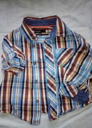 Рубашка в клетку.m&s