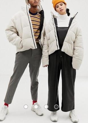 Новая вельветовая зимняя куртка лимитка collusion от asos