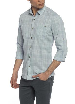 16-8 lc waikiki новая мужская рубашка в клетку размер s хлопок