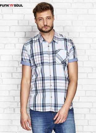 17-64 мужская рубашка funk'n'soul польский бренд размер м хлопок