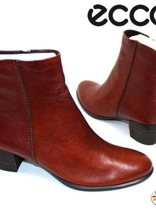 Ecco кожаные ботинки 38 р 39 р 40 р 41 р дания оригинал