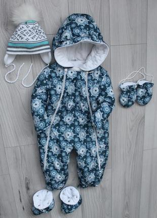 Зимний комбинезон на девочку (стразы swarovski) 86 размера польской фирмы pilguni