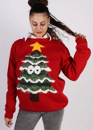 Яркий новогодний джемпер свитер cedarwood state