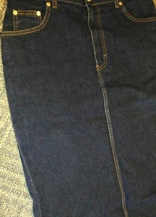 Длинная джинсовая юбка marks & spencer