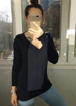 Синий реглан/свитер madonna в обтяжку
